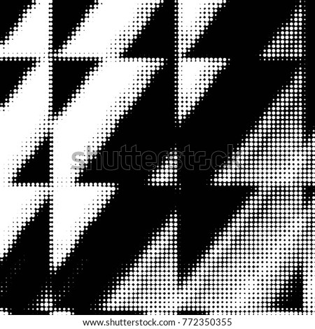Grunge halftone black and white dots texture background. Spotted vector Abstract Texture  #772350355