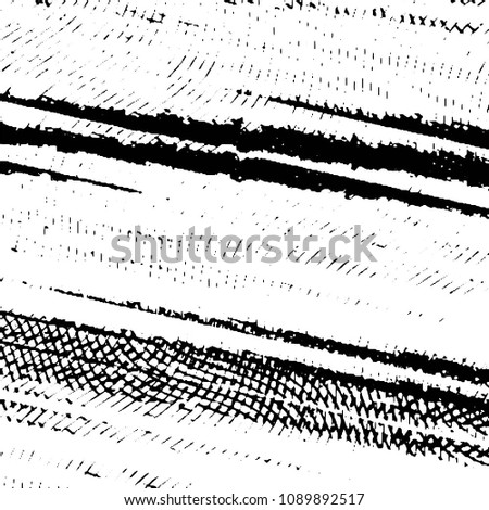 Grunge halftone black and white line texture background. Abstract stripe vector illustration Texture  #1089892517