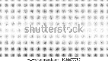 Grunge halftone dots pattern texture background.Black pixels. Modern dotted vector illustration. Abstract wavy lines. Points backdrop. Grungy spotted pattern. Wide image
