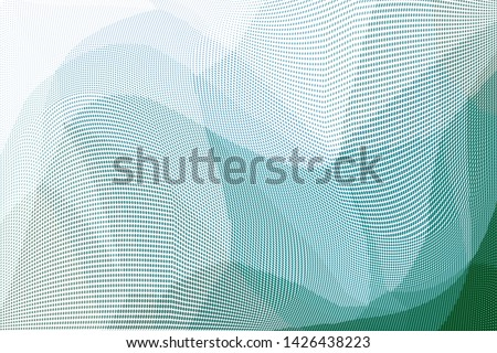 Grunge halftone dots pattern texture background. Low poly design. Modern gradient monochrome dotted vector illustration. Abstract wavy lines. Triangular polygon backdrop #1426438223