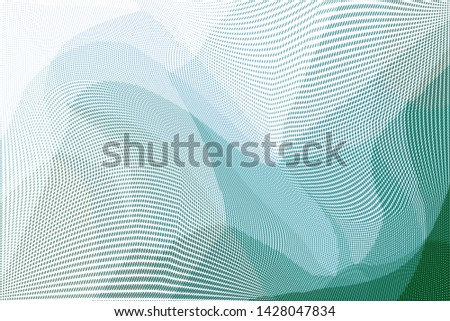 Grunge halftone dots pattern texture background. Low poly design. Modern gradient monochrome dotted vector illustration. Abstract wavy lines #1428047834