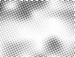 Grunge halftone dots vector texture background. Pixel