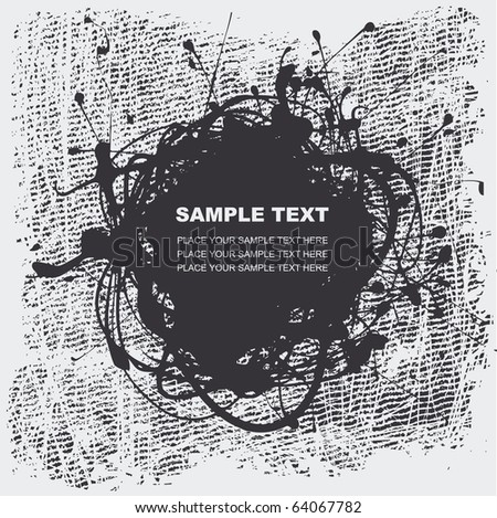 grunge halftone textures with space for your text, vector illustration