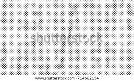 Grunge Halftone Vintage Vector Background Ink Dots Texture Design Element Black White Abstract