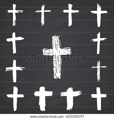Vector Images Illustrations And Cliparts Grunge Hand Drawn Cross