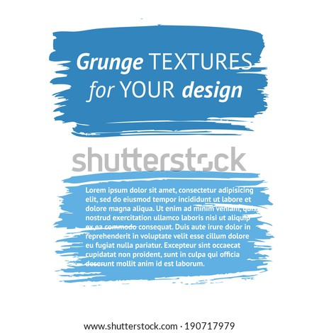 grunge hand printed design