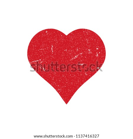 Grunge Heart Illustration. Vector.