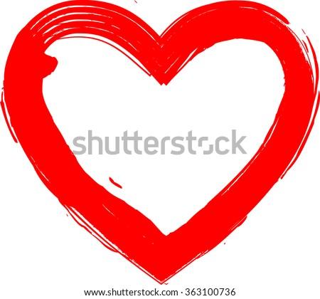 grunge heart red heart heart