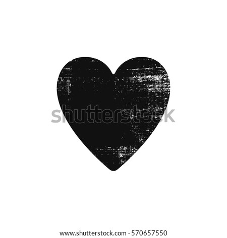 grunge heart vector for