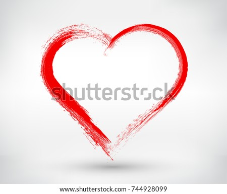 grunge heartvector heart shape