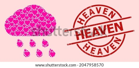 grunge heaven stamp  and pink