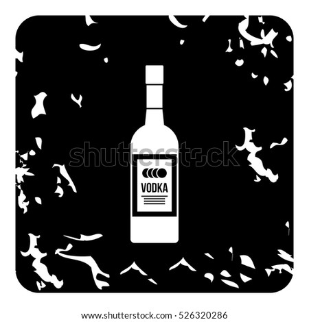 grunge illustration of bottle