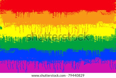 grunge illustration of gay and lesbian flag