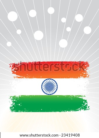 indian flag wallpapers. stock vector : grunge indian
