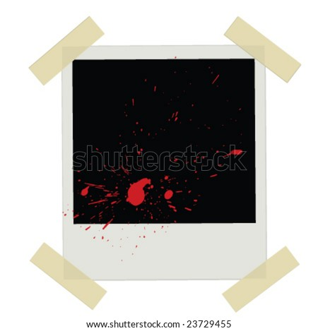 Grunge Instant Photo Film - stock vector