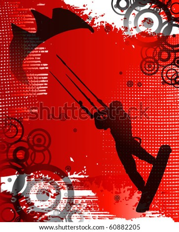 Grunge kite zone. vector illustration.