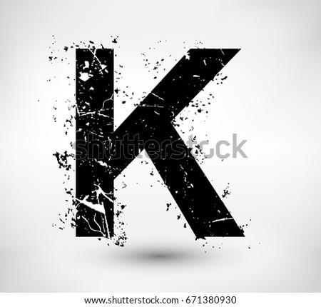grunge letter kvector distress