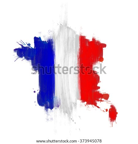 grunge map of france with