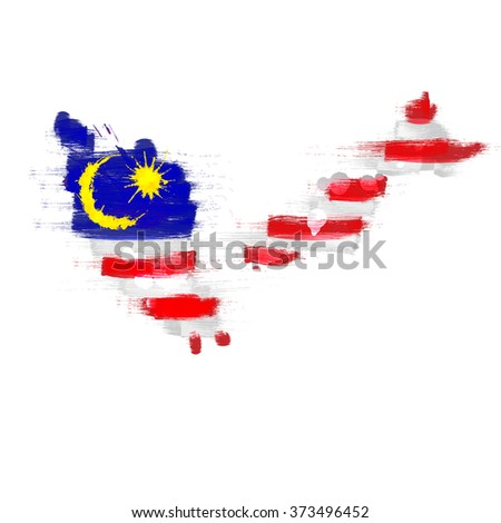 grunge map of malaysia with