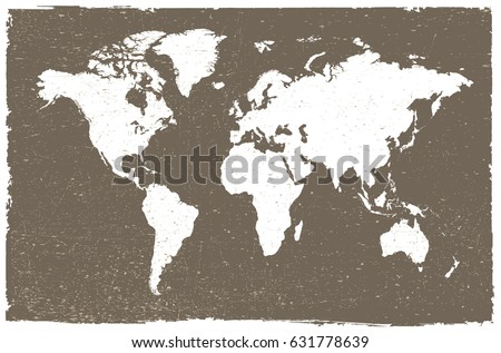 Grunge map of the world.Vintage world map. #631778639