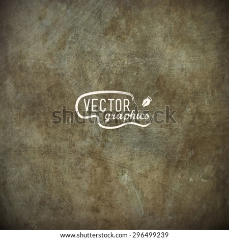 Grunge metal plate in EPS10