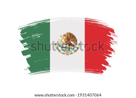 grunge mexico flagbrush stroke