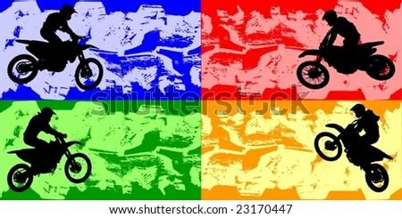 grunge motor sport banners