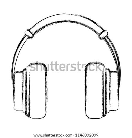 grunge music headphones object