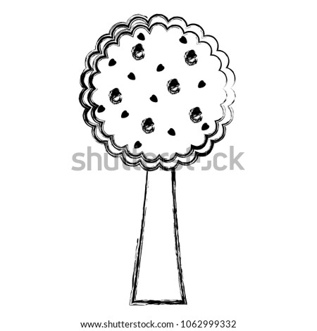 grunge nature tree design with