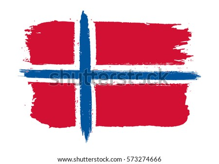 grunge norway flagvector flag