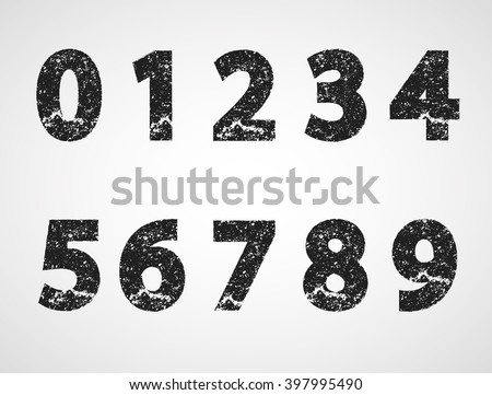 grunge numbers design