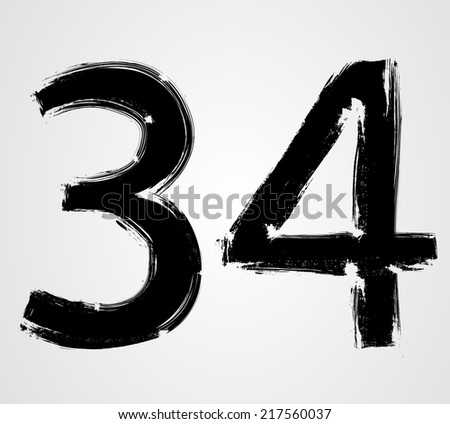 grunge numbers   three and four