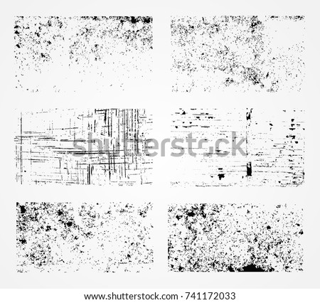 Grunge overlay textures.Vector distress textures.