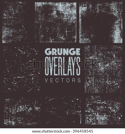 Grunge Overlays vector