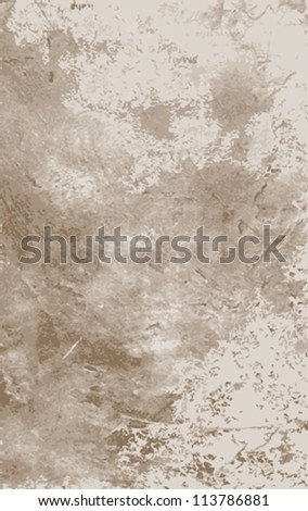 Grunge paint background. Vector illustration scale to any size. All elements and textures are individual objects.