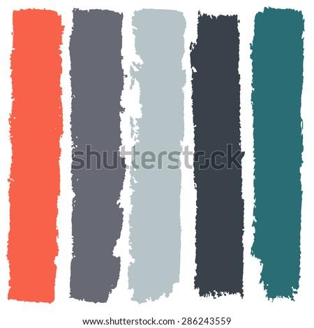 Grunge paint roller strokes, brush strokes