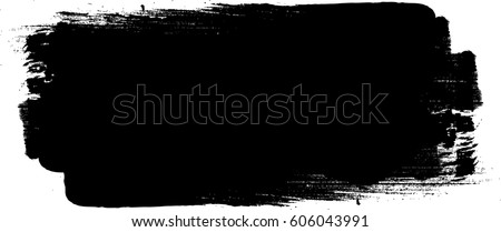 Grunge Paint stripe . Vector brush Stroke . Distressed banner . Black isolated paintbrush collection . Modern Textured shape . Dry border in Black