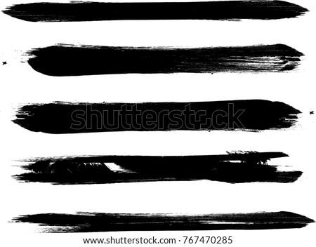 grunge paint stripe  vector