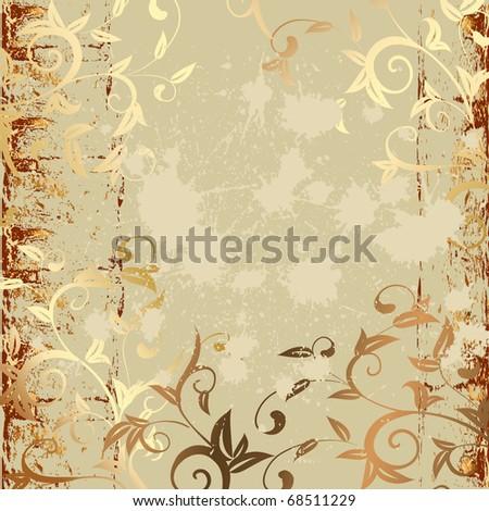 grunge pattern gold - stock vector