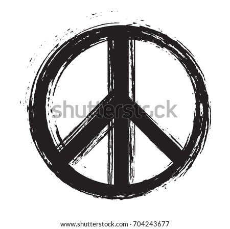 grunge peace signvector dirty