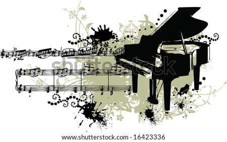 music staff clipart. with note music and staff