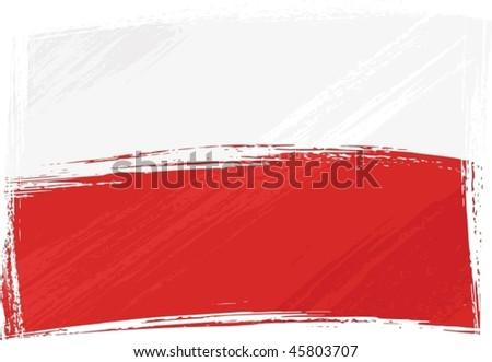 Grunge Poland flag