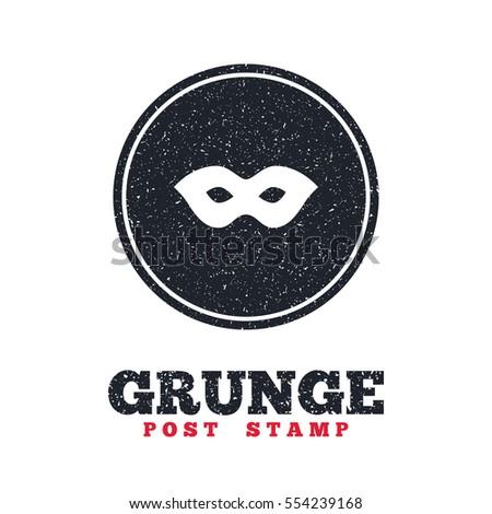 grunge post stamp circle
