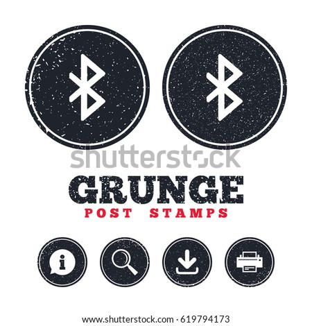 grunge post stamps bluetooth