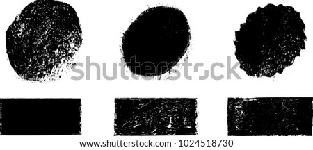Grunge post Stamps Collection, Circles. Banners, Insignias , Logos, Icons, Labels and Badges Set . vector distress textures.blank shapes. #1024518730