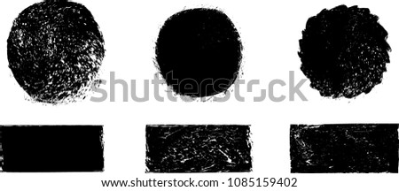 Grunge post Stamps Collection, Circles. Banners, Insignias , Logos, Icons, Labels and Badges Set . vector distress textures.blank shapes. #1085159402
