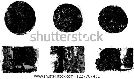 Grunge post Stamps Collection, Circles. Banners, Insignias , Logos, Icons, Labels and Badges Set . vector distress textures.blank shapes. #1227707431