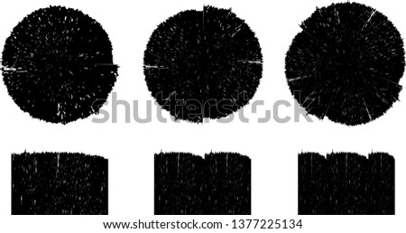 Grunge post Stamps Collection, Circles. Banners, Insignias , Logos, Icons, Labels and Badges Set . vector distress textures.blank shapes. #1377225134