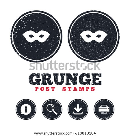 grunge post stamps mask sign