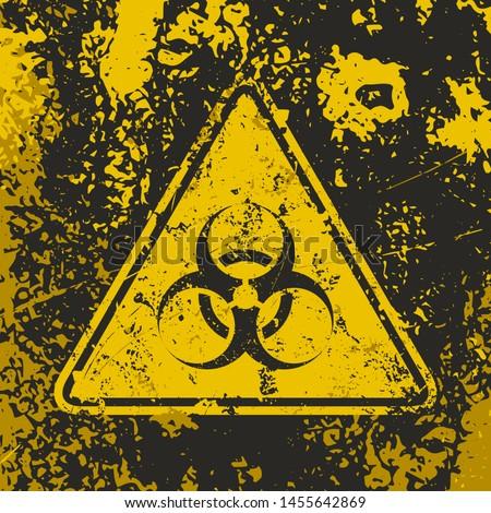 grunge poster 'biohazard'